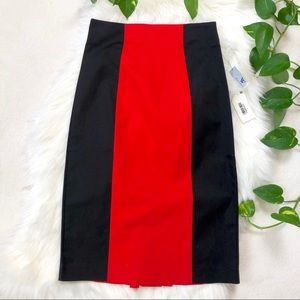 Worthington High Waisted Color Block Pencil Skirt